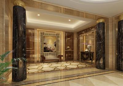 欧式客厅地面水刀拼花效果图,客厅欧式地面拼花效果图