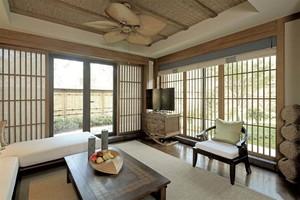 日式和风装修效果图,日式和风复古40平装修