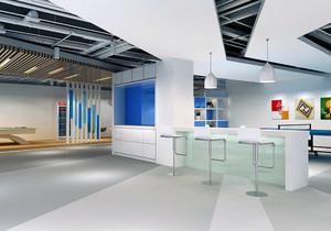 工厂办公楼3层效果图,工厂办公楼室内betway必威体育app官网效果图