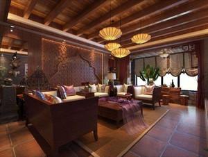 东南亚装修风格的私人别墅会所,农村东南亚风格别墅装修图片