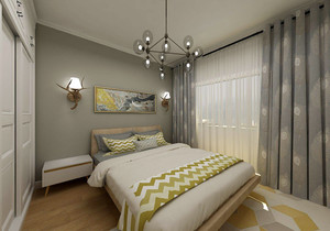 北歐臥室墻紙效果圖欣賞,臥室和客廳墻紙搭配效果圖欣賞