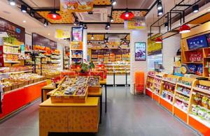 进口食品店装修效果图,外贸进口食品店装修效果图