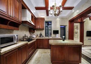 开放式西式厨房装修效果图,美式别墅西式厨房装修效果图大全