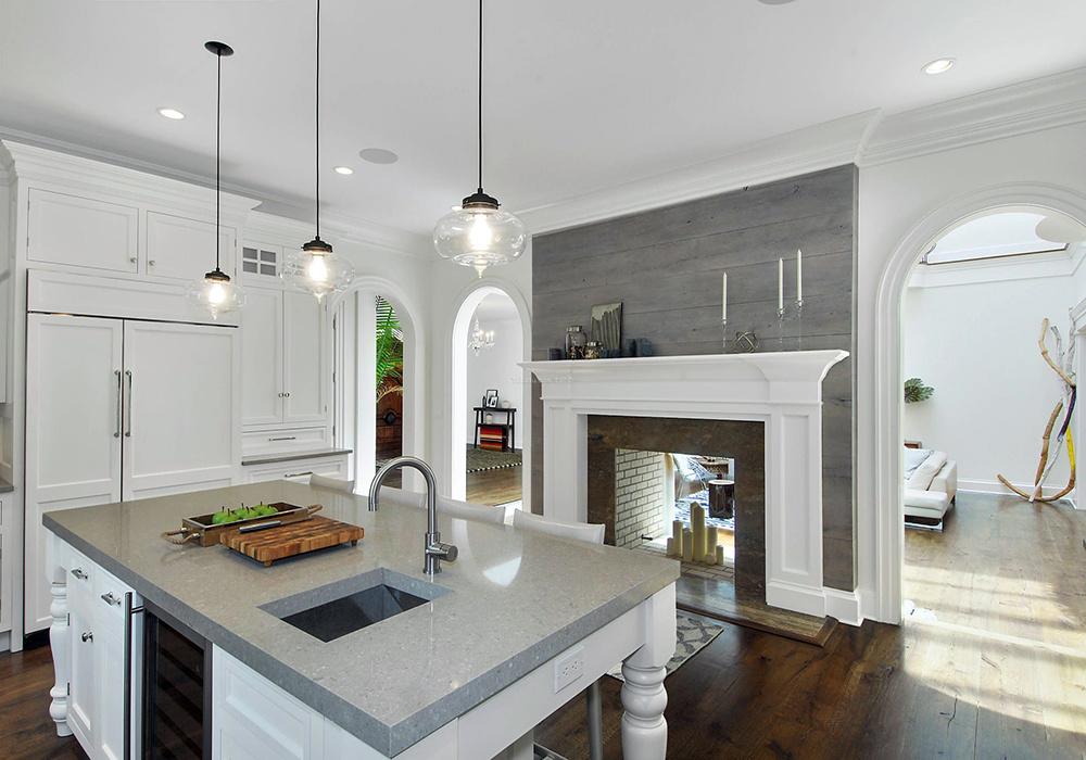长形厨房客厅一体装修图,两室一厅小户型客厅厨房一体装修图