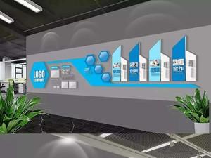 公司办公室形象墙效果图,办公室形象墙的效果图