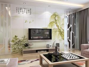中式電視墻的裝修圖片大全,簡約中式電視墻裝修圖片大全