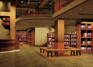 图书馆大厅进门装修效果图,图书馆大门装修效果图