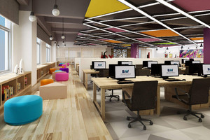办公室门口过道如何设计效果图,办公室过道吊顶效果图大全