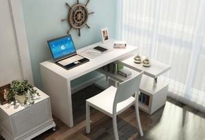 小阳台书桌带书柜效果图,阳台书柜书桌设计效果图