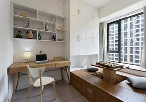 阳台做书桌书柜效果图,客厅阳台书柜书桌一体装修效果图