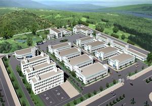 工业厂房建筑效果图,工业厂房建筑设计效果图