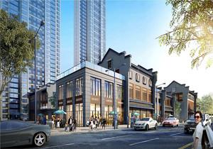 一层商铺二层住房效果图,一层商铺二层住宅效果图