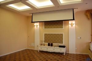小客厅投影足彩导航效果图,挑高客厅投影幕布足彩导航效果图
