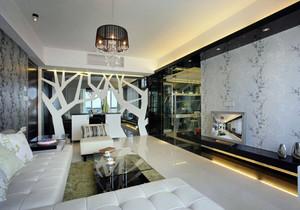 现代客厅隔断柜效果图造型,现代客厅与餐厅隔断柜效果图大全