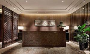 中式賓館大廳裝修效果圖,賓館大廳中式裝修效果圖