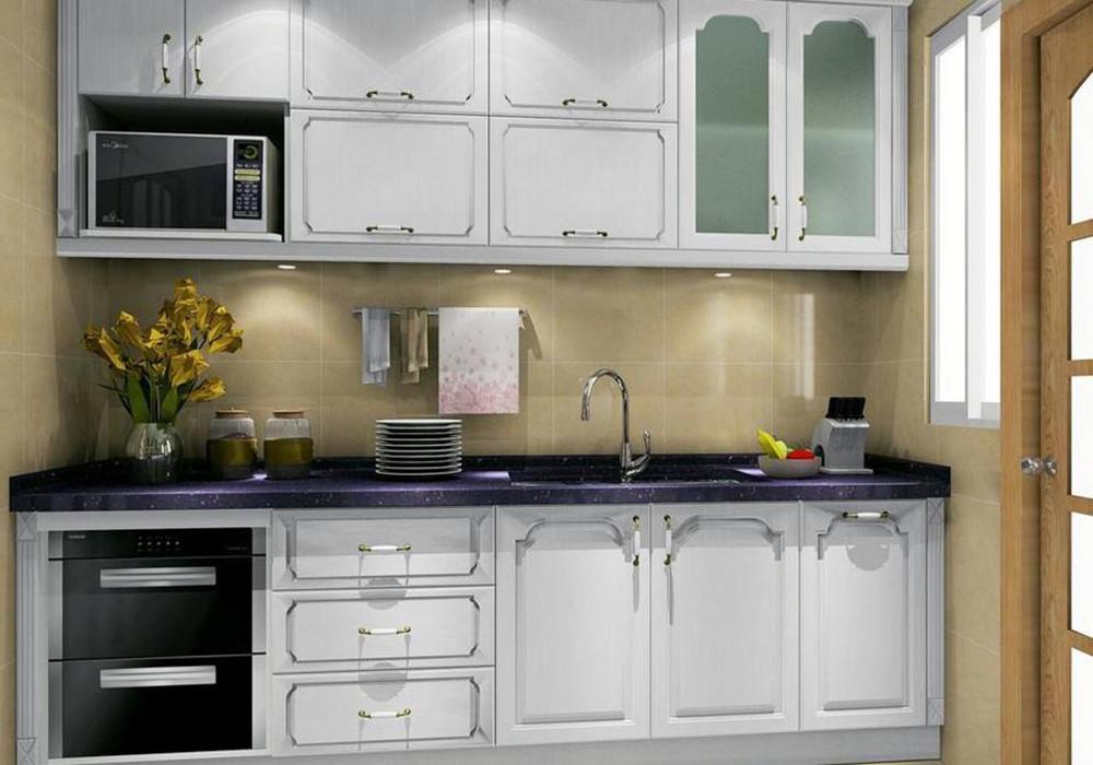 一字型的厨房装修效果图,小厨房一字型橱柜装修效果图