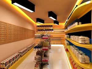 国外食品店装修效果图,海外食品店的装修效果图