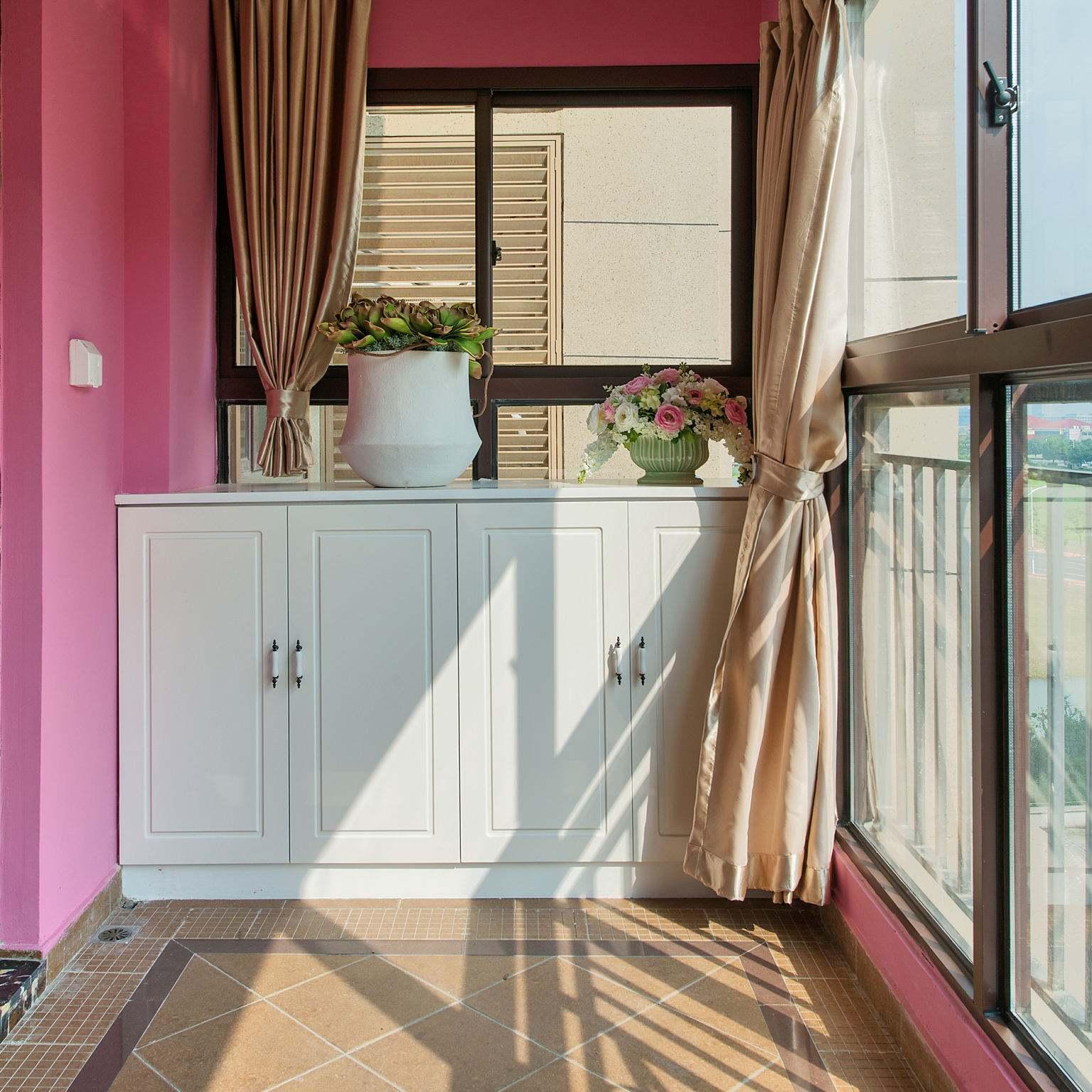 美式厨房窗帘装修效果图,厨房阳台窗帘装修效果图
