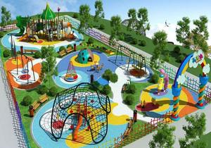 儿童游乐园室外平面图,室外游乐园平面图