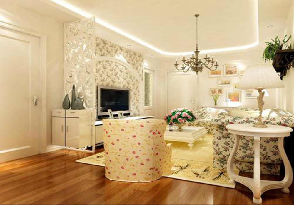 小户型欧式田园风格客厅装修效果图,田园风格和欧式装修效果图大全