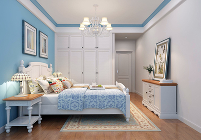 地中海卧室装修风格效果图,地中海简约卧室装修效果图