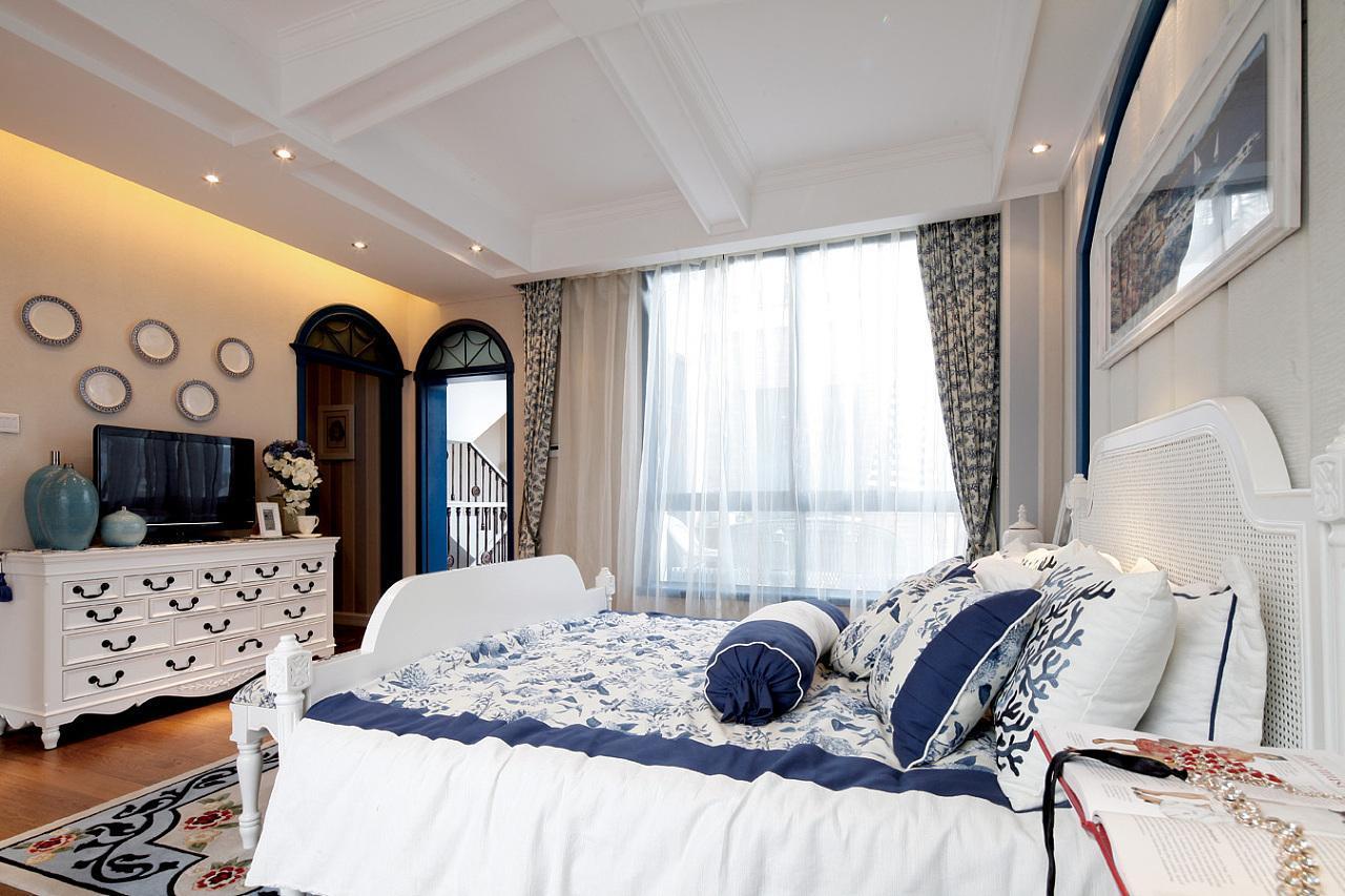 地中海風格臥室裝修案例,地中海風格裝修案例說明