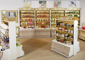 化妆品店体验区装修效果图,具有创意化妆品店装修效果图