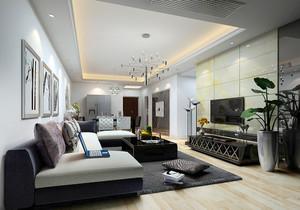 黑白灰别墅简约风格装修效果图,现代简约黑白灰简约风格装修效果图
