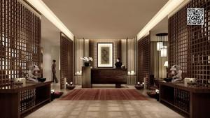 美容会所新中式装修效果图,美容养生会所大厅装修效果图
