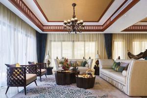 东南亚风格客厅吊顶足彩导航效果图,客厅东南亚风格足彩导航效果图