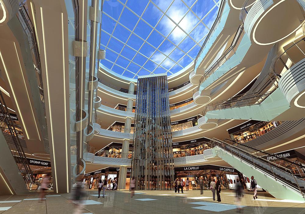 成都大型商场装修,成都商场店铺装修设计