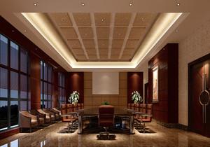 视频会议室装修效果图,平顶视频会议室效果图