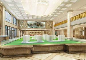 售楼部室内设计平面图,一层售楼部设计平面图