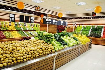 水果超市外观装修效果图,200平水果超市装修效果图