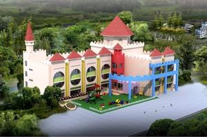 小型幼儿园建筑效果图,3层幼儿园建筑效果图