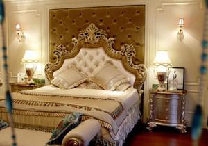 简欧卧室软包装修效果图,主卧室床头软包装修效果图