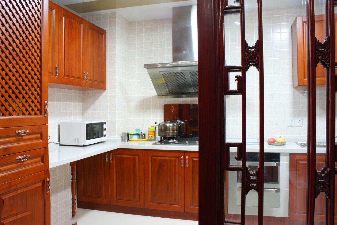 厨房实木隔断门装修效果图,中式厨房隔断门装修效果图大全