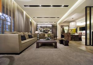125平方三居室装修效果图,三居室简欧装修效果图