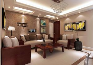 新中式紅木家具配窗簾效果圖,紅木家具客廳配窗簾效果圖大全