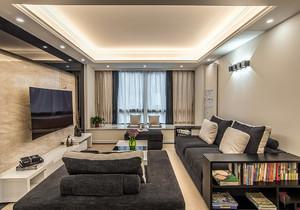 現代中式客廳窗簾效果圖大全,現代中式裝修窗簾裝修效果圖