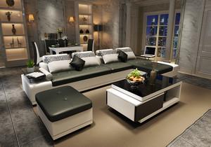 沙发茶几电视柜的搭配效果图大全,黑色沙发黑色茶几黑色电视柜效果图