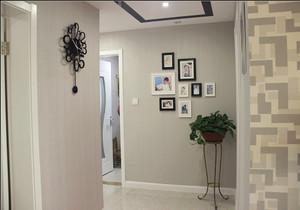 走廊照片墙装修效果图,家庭装修照片墙效果图