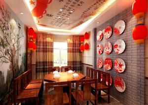 陕西饭店特色装修效果图,特色农家院饭店装修效果图