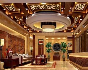 新中式宾馆大厅装修效果图,小型宾馆大厅装修效果图大全
