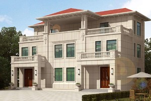160平米三层别墅设计图,占地160平米双拼小别墅设计图