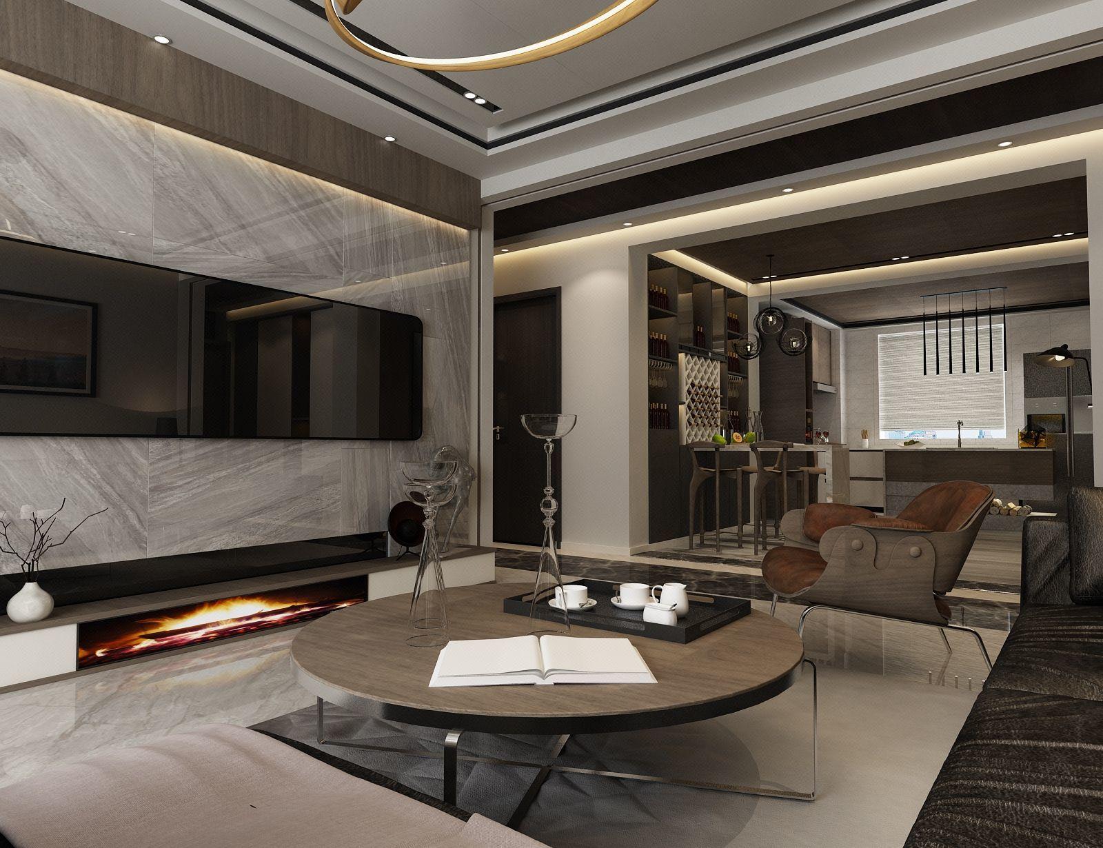 100平米两室一厅房屋装修效果图,100平米房屋简单装修效果图