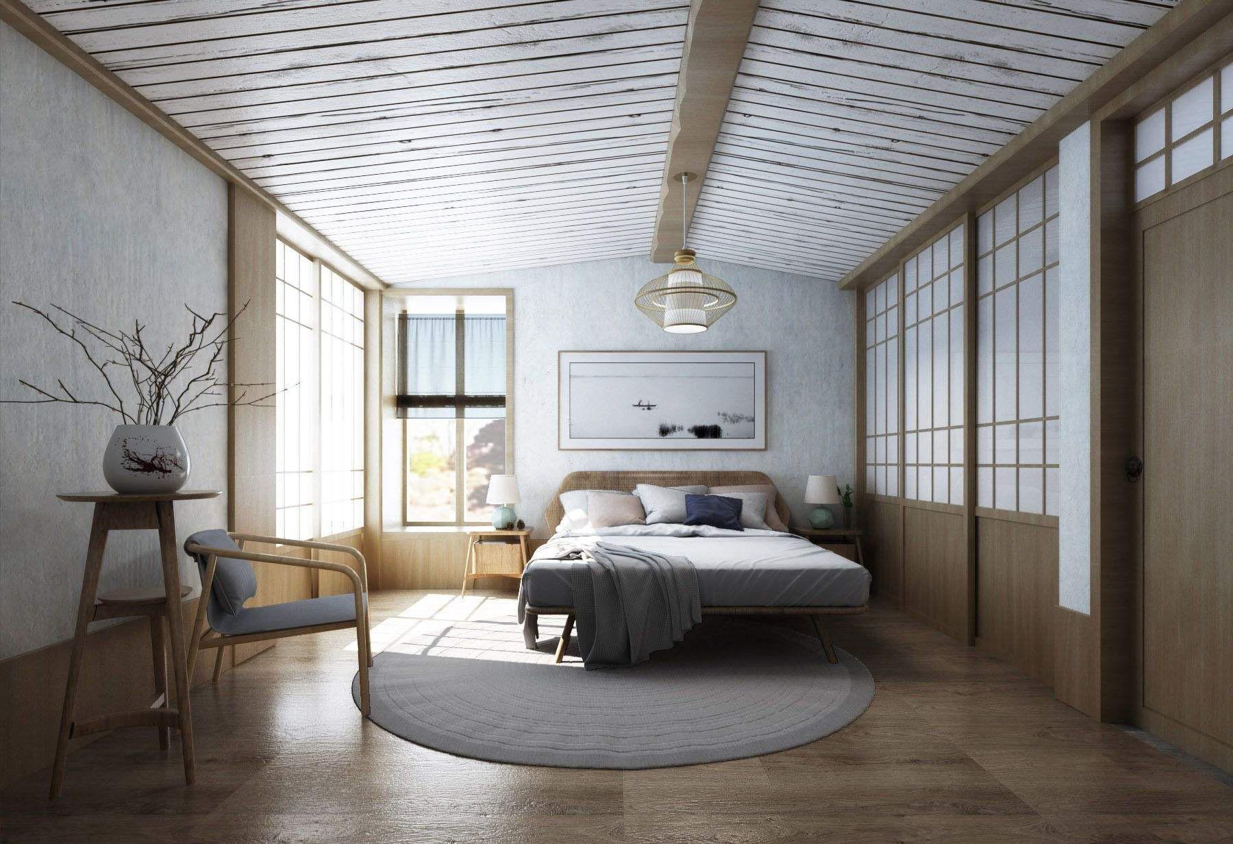 十平米日式卧室装修效果图,十平米正方形卧室装修效果图