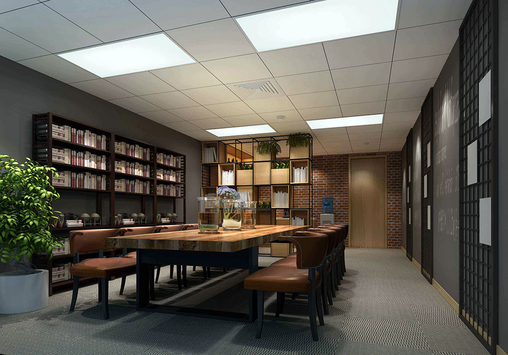 现代中式办公室装修效果图,中式办公室吊顶装修效果图
