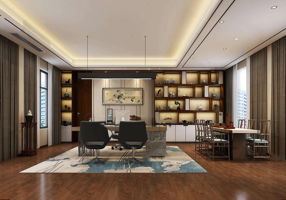 太原高端办公室装修,高端中式装修办公室图片大全