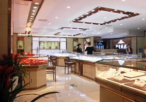 现代最新款珠宝店装修效果图,六福珠宝店装修效果图